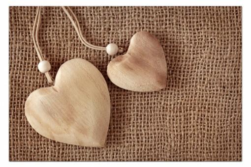 tableau romantique coeur en toile de jute 80x55 cm tableaux romantiques pas cher. Black Bedroom Furniture Sets. Home Design Ideas