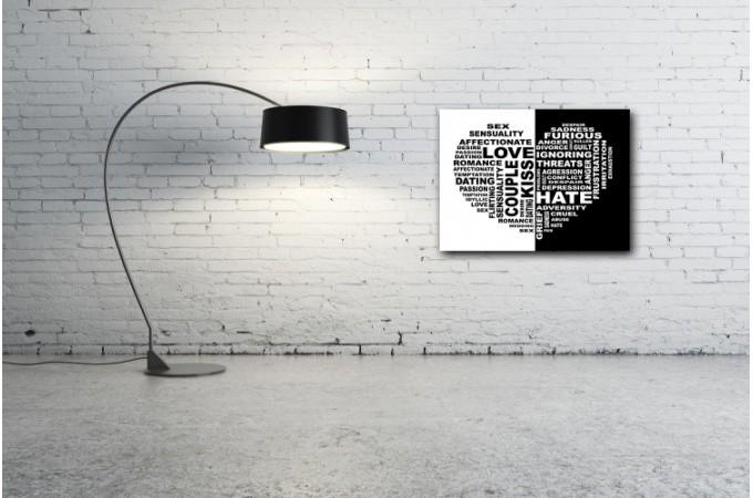 Tableau romantique noir et blanc artist 80x80 cm tableaux romantiques pas cher - Photo romantique noir et blanc ...