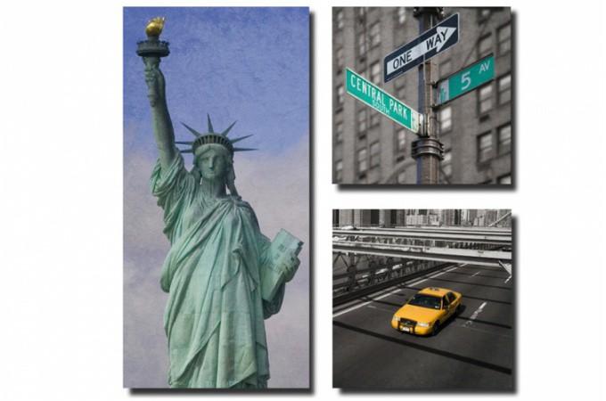 tableau triptyque new york images. Black Bedroom Furniture Sets. Home Design Ideas