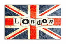 Tableau British London enigme L.55 x H.80 cm - Deco meuble british