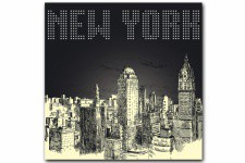 Tableau New York By Night 60X60 cm - Tableau ville