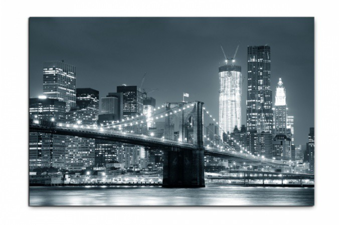 Tableau new york city by night 80x55 cm tableaux villes - Tableau de new york ...