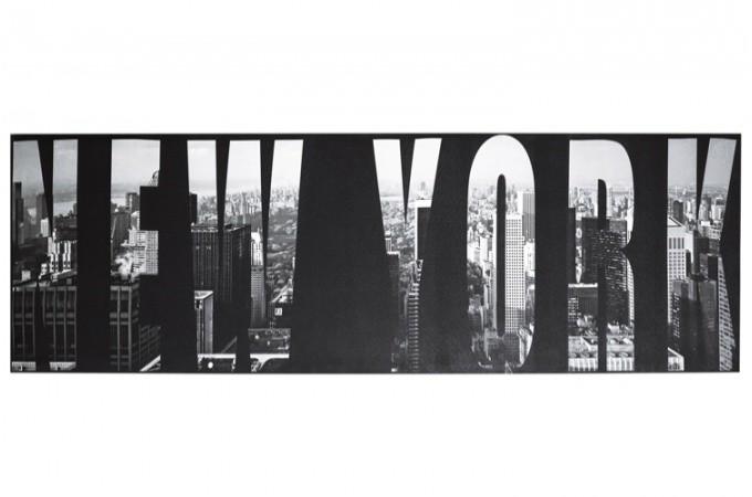 Tableau noir et blanc new york 45 x 140 cm tableau for Tableau londres noir et blanc