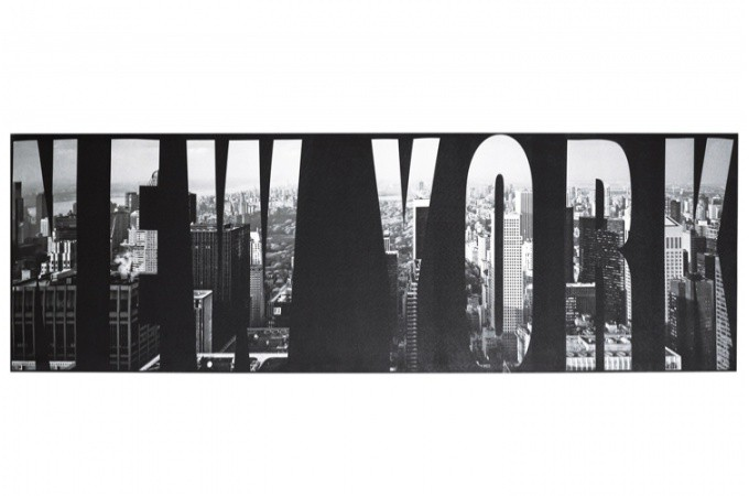 tableau noir et blanc new york 45 x 140 cm tableau design tableau villes declikdeco. Black Bedroom Furniture Sets. Home Design Ideas
