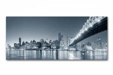 DeclikDeco - Tableau Panoramique New York By Night 90 x 30 cm - Tableau ville