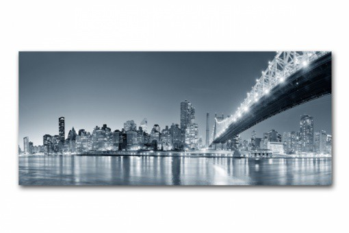 Tableau Panoramique New York By Night 90 x 30 cm