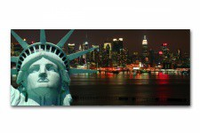 Tableau Panoramique New York Liberty 90 x 30 cm - Tableaux design