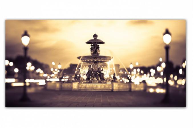 Tableau villes panoramique fontaine parisienne 90x30 cm tableaux villes pas - Definition de panoramique ...