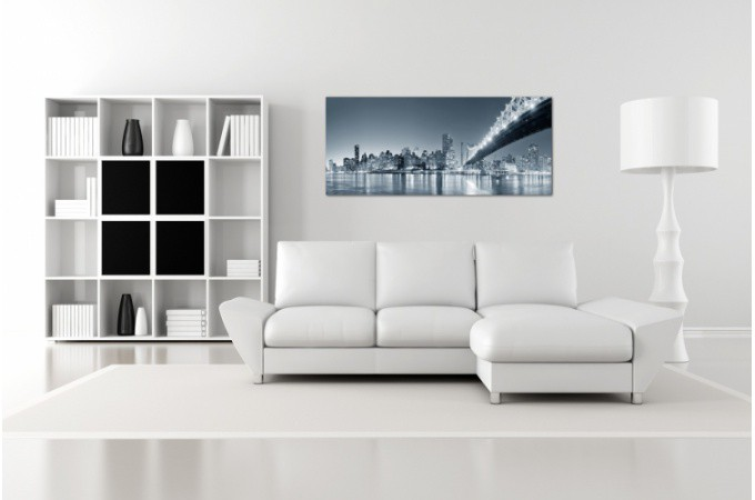 Tableau Panoramique New York By Night 90 x 30 cm Plus d\'infos