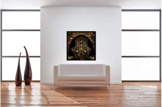 tableau villes main de fatma 60x60 cm tableaux villes pas cher. Black Bedroom Furniture Sets. Home Design Ideas