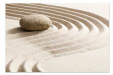 Tableau Zen Sable et Galet 80X55 cm, deco design