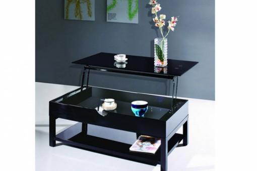 Table Basse Noire Avec Plateau Relevable Table Basse Pas