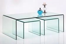 Achat table basse laqu e pas ch re table basse design en - Table gigogne verre ...