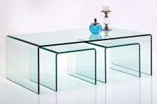 Set de 3 Tables Gigognes Kare Design en Verre Fidji, deco design
