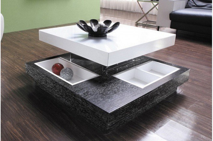 table basse amovible en bois bicolore domino tables basses pas cher. Black Bedroom Furniture Sets. Home Design Ideas
