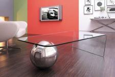 Table basse design boule chromée Millésime, deco design