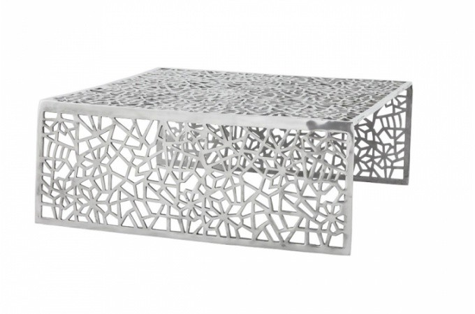 Table basse design en alu alveoles tables basses pas cher - Table basse en soldes ...