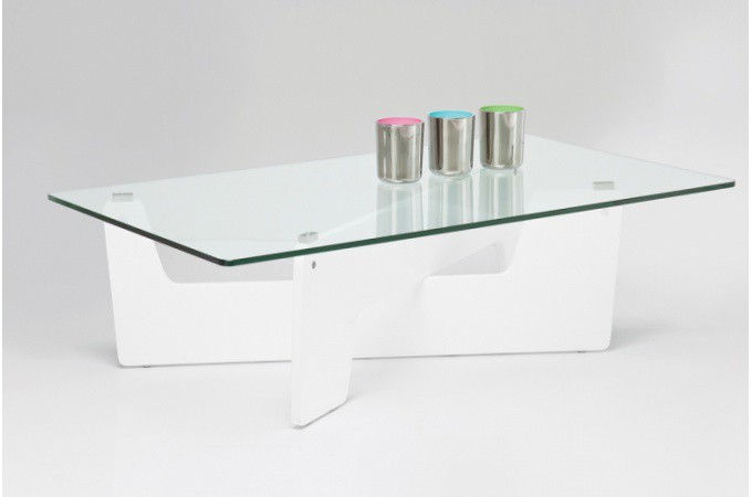 Achat table basse laqu e pas ch re table basse design en verre page 1 - Table basse en verre blanc ...