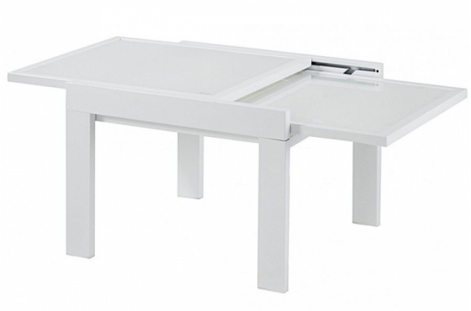 Table Basse Avec Rallonge Blanche Table Basse Transformable