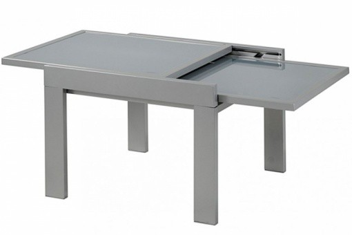 Table basse extensible plateau en verre gris table basse for Deco table basse en verre
