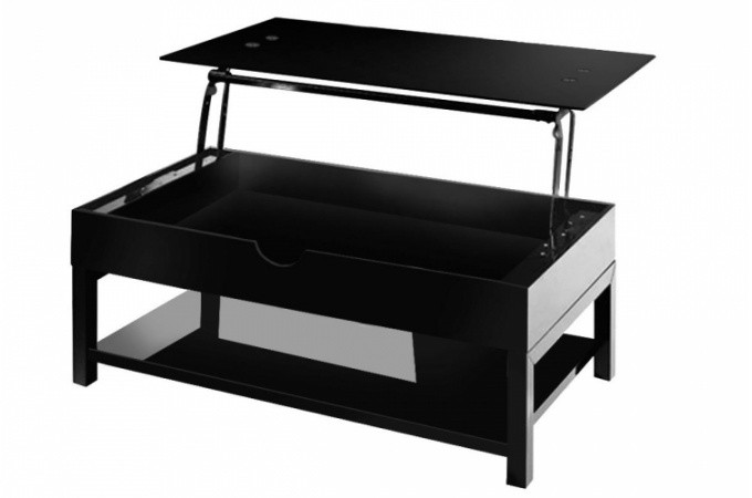table basse noire avec plateau relevable table basse pas cher. Black Bedroom Furniture Sets. Home Design Ideas