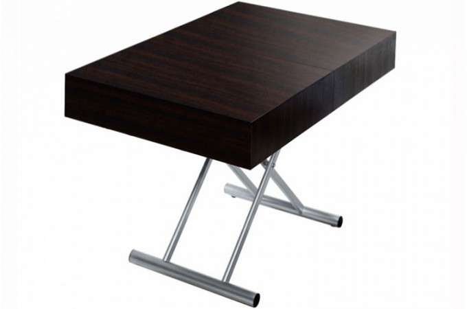 table basse relevable rallonge wengue extencia table. Black Bedroom Furniture Sets. Home Design Ideas
