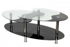Table basse verre noir Germina - Table design