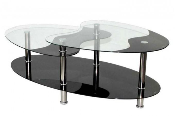 Table rabattable cuisine paris chaises design italien - Table basse verre noir ...