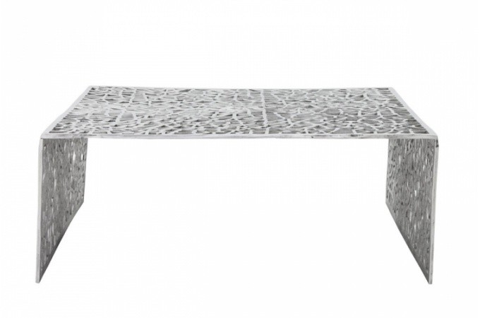 Table basse design en alu alveoles tables basses pas cher for Table basse argent