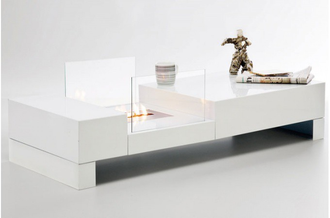 Achat table basse laqu e pas ch re table basse design en - Table basse bio ethanol ...