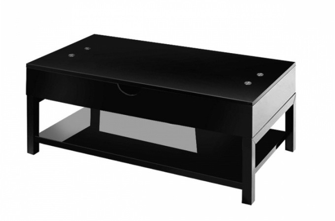 table basse noire avec plateau relevable table basse pas. Black Bedroom Furniture Sets. Home Design Ideas