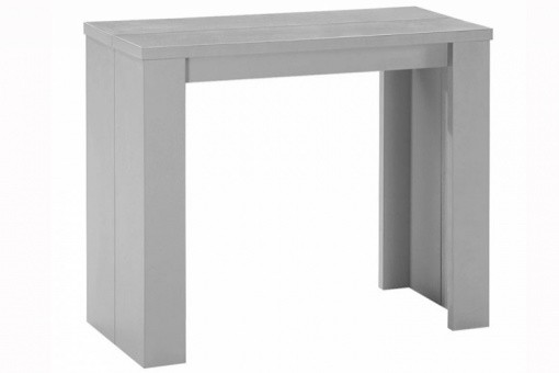 Table console extensible argent 3 rallonges Broadway