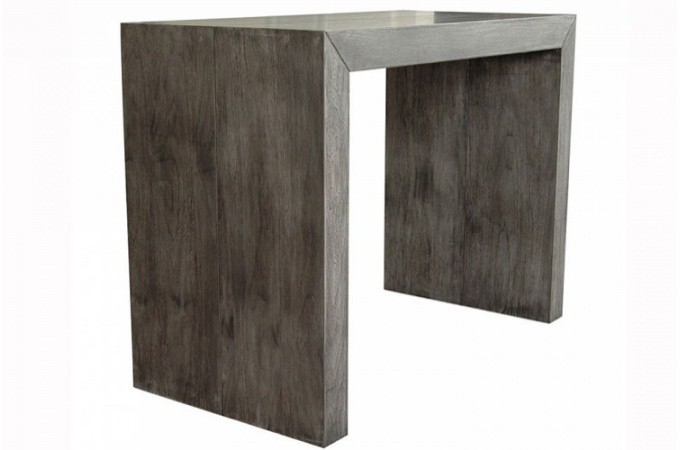 table console extensible gris vintage. Black Bedroom Furniture Sets. Home Design Ideas
