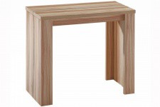 Table console extensible chêne clair 3 rallonges Broadway - Table console design