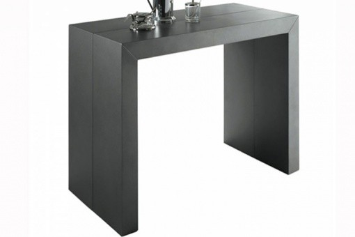 Table Console Extensible Gris Satiné Nicky