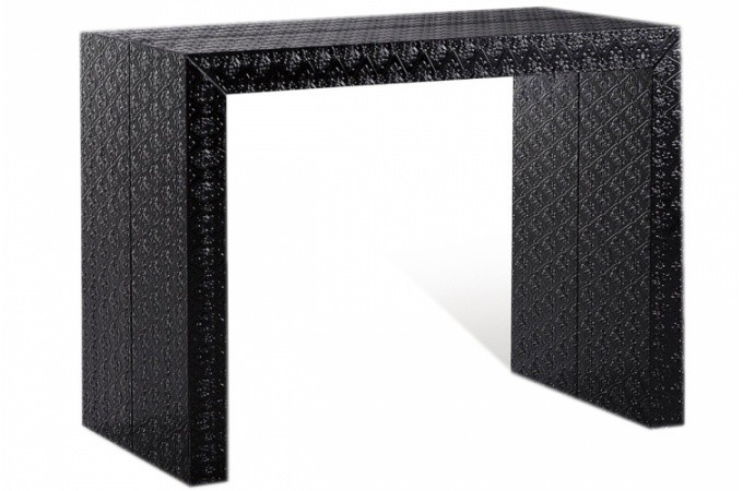Table console extensible transformable page 1 - Console extensible laquee noire ...