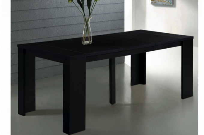 table console extensible noir broadway tables consoles pas cher. Black Bedroom Furniture Sets. Home Design Ideas