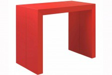Table console extensible rouge laqué 3 rallonges Nicky