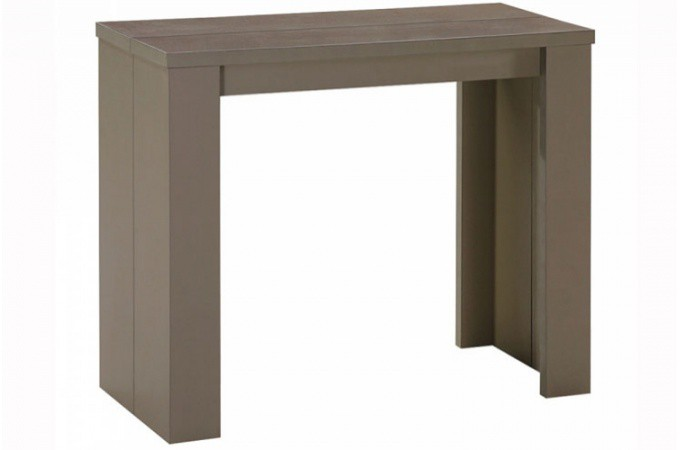 Table console extensible taupe broadway tables consoles pas cher - Console extensible taupe ...
