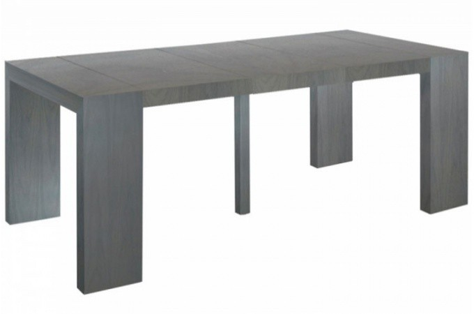 console extensible vintage 250cm mat chicago table console pas cher. Black Bedroom Furniture Sets. Home Design Ideas