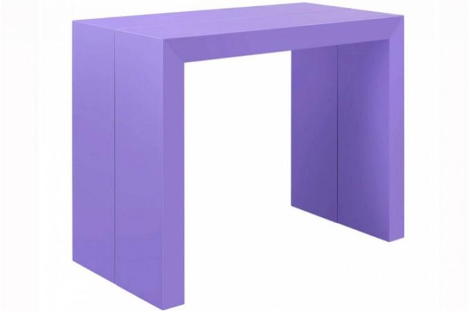 Table console extensible violet laqu pas ch re - Console extensible pas chere ...