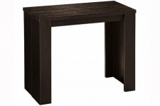 Console extensible bois wenge 190cm mat BROADWAY - Table console bois