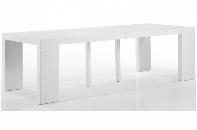 Table extensible pas ch re blanche laqu e - Console extensible pas chere ...