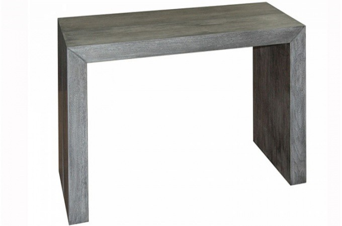 Table console extensible gris vintage for Table console extensible grise