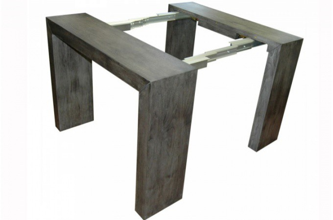 table console extensible gris vintage. Black Bedroom Furniture Sets. Home Design Ideas