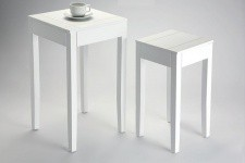 Lot de 2 Tables d'Appoint Blanche Bolivar - Table d appoint design
