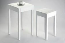 Table d'Appoint Lot de 2 Tables d'Appoint Blanche Bolivar, deco design