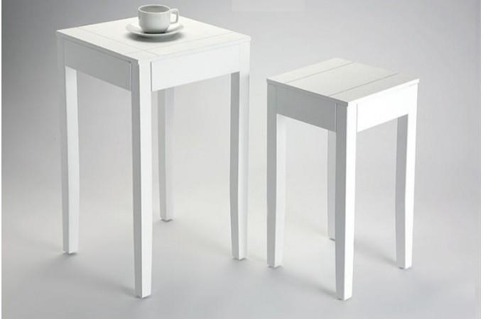lot de 2 tables d 39 appoint blanche bolivar tables d 39 appoint pas cher. Black Bedroom Furniture Sets. Home Design Ideas