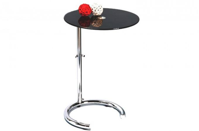 Petite table r glable noire aphrodite tables d 39 appoint for Petite table d appoint
