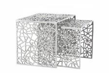 Table d'Appoint Set de 2 Tables Gigones en Alu Alveoles, deco design